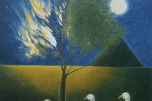 Half Flame, Half Tree, 1989 coloured pencil on paper. Private Collection, England