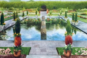 Garden Pool, 1986 watercolour on paper.